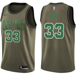 Maillot De Basket Bird Celtics Nike Homme vert No.33 Salute to Service
