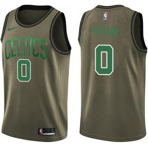 Nike NBA Maillots Basket Jayson Tatum Boston Celtics vert #0 Homme Salute to Service