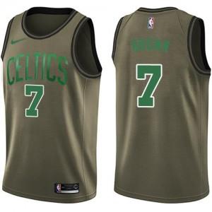 Maillot Basket Jaylen Brown Boston Celtics Salute to Service No.7 Nike Enfant vert