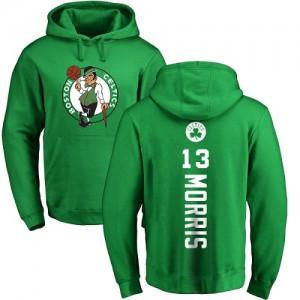 Nike Sweat à capuche Marcus Morris Celtics #13 Pullover Homme & Enfant Jaune vert Backer