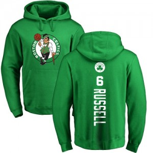 Nike Sweat à capuche De Basket Russell Celtics Homme & Enfant Jaune vert Backer Pullover No.6