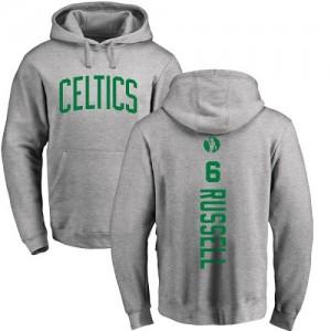 Hoodie De Basket Russell Celtics Pullover No.6 Homme & Enfant Ash Backer Nike