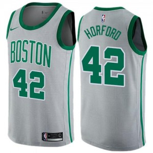 Nike Maillot Basket Horford Boston Celtics Gris Enfant #42 City Edition