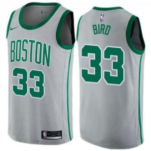 Nike NBA Maillots Bird Boston Celtics Gris No.33 City Edition Homme