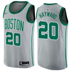Maillot Gordon Hayward Celtics Gris Enfant Nike City Edition #20