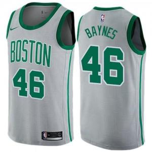 Maillot De Basket Aron Baynes Boston Celtics Enfant Nike No.46 City Edition Gris