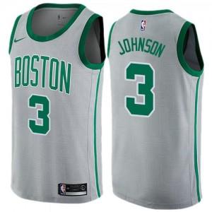 Nike NBA Maillot Basket Johnson Celtics #3 Gris City Edition Enfant