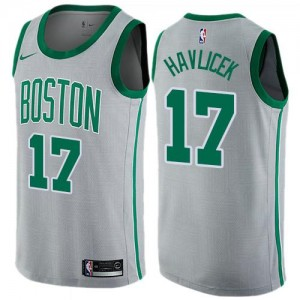 Maillots De John Havlicek Boston Celtics Gris Nike #17 City Edition Enfant