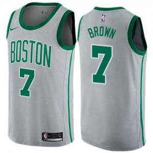 Maillots De Basket Jaylen Brown Boston Celtics Homme City Edition Gris Nike #7