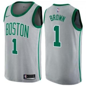 Nike NBA Maillots De Walter Brown Celtics City Edition Enfant No.1 Gris