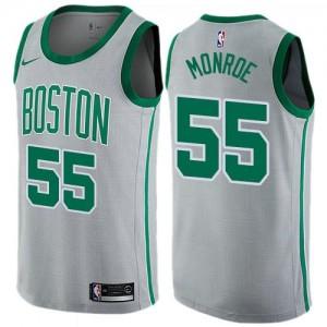 Nike Maillot De Basket Greg Monroe Celtics City Edition Enfant No.55 Gris