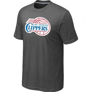 T-Shirt Basket Los Angeles Clippers Big & Tall Primary Logo Homme Gris foncé