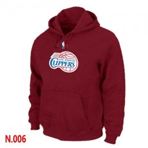 Sweat à capuche Basket LA Clippers Homme Pullover Rouge