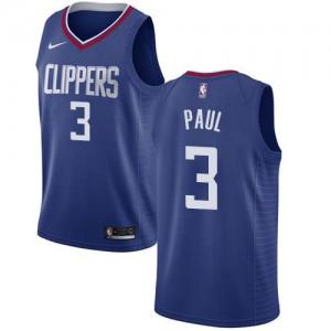 Nike NBA Maillots De Basket Chris Paul Clippers Homme Bleu #3 Icon Edition