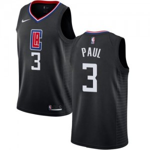 Nike NBA Maillots Paul Los Angeles Clippers Statement Edition No.3 Homme Noir