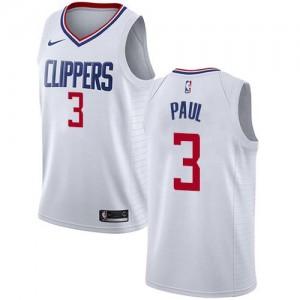 Nike Maillots Chris Paul Clippers #3 Association Edition Blanc Enfant