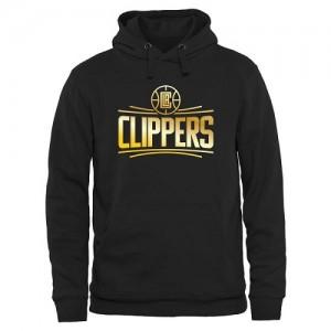 NBA Sweat à capuche De LA Clippers Noir Gold Collection Pullover Homme