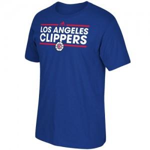 Tee-Shirt De Basket Clippers Adidas Homme Dassler Bleu royal