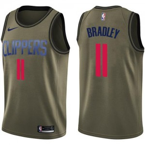 Maillots Basket Bradley LA Clippers Salute to Service #11 Nike Homme vert