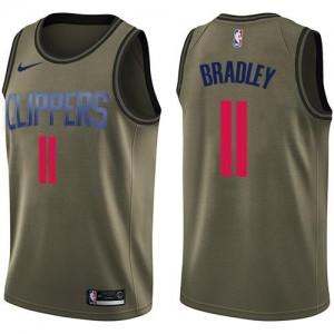 Nike Maillot De Avery Bradley LA Clippers #11 vert Enfant Salute to Service