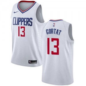 Nike NBA Maillots Gortat Los Angeles Clippers No.13 Blanc Enfant Association Edition