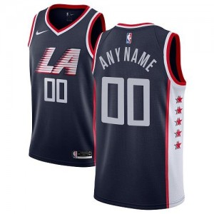 Nike Maillot Personnalisé De Los Angeles Clippers Homme bleu marine City Edition