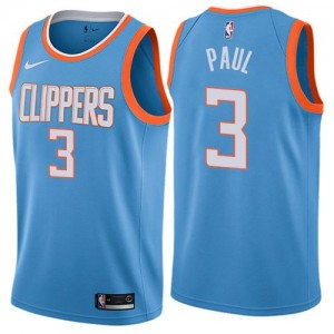 Nike Maillot De Chris Paul LA Clippers #3 City Edition Enfant Bleu