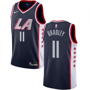 Nike Maillots Basket Bradley Clippers No.11 Enfant bleu marine City Edition