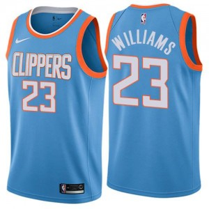 Nike NBA Maillots De Basket Louis Williams Clippers No.23 Enfant City Edition Bleu
