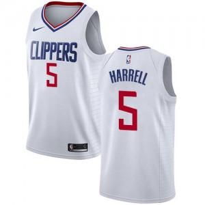 Maillot De Basket Montrezl Harrell LA Clippers Nike Enfant Blanc No.5 Association Edition