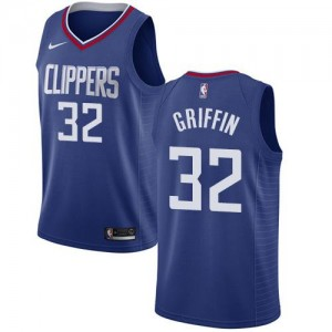 Nike NBA Maillots De Griffin LA Clippers Enfant No.32 Bleu Icon Edition