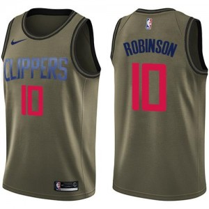 Nike Maillots De Jerome Robinson LA Clippers #10 Salute to Service Homme vert