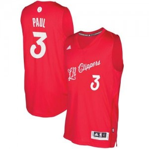 Adidas Maillots Paul Clippers No.3 Rouge Homme 2016-2017 Christmas Day
