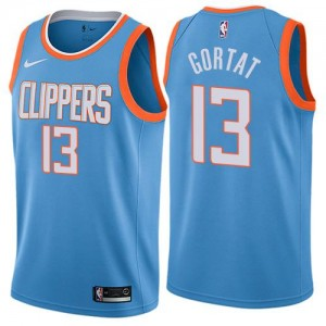 Maillots Marcin Gortat Clippers No.13 Enfant Nike City Edition Bleu
