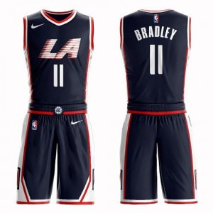 Nike NBA Maillot Basket Avery Bradley Los Angeles Clippers No.11 Suit City Edition Homme bleu marine