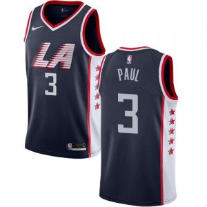 Maillots Basket Paul Los Angeles Clippers Homme Nike bleu marine City Edition #3