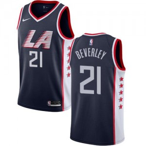 Nike Maillots Beverley Los Angeles Clippers bleu marine City Edition Enfant No.21