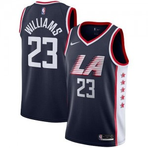 Nike NBA Maillot Basket Williams Clippers City Edition Enfant #23 bleu marine
