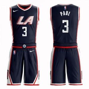 Nike NBA Maillot De Basket Paul LA Clippers bleu marine #3 Suit City Edition Enfant