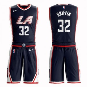 Maillot Basket Blake Griffin Los Angeles Clippers #32 Homme Nike bleu marine Suit City Edition