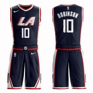 Nike Maillots De Basket Robinson LA Clippers Homme Suit City Edition bleu marine No.10