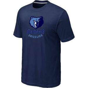 NBA Tee-Shirt De Memphis Grizzlies Homme bleu marine Big & Tall Primary Logo