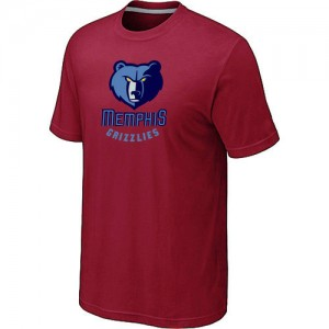 Tee-Shirt De Basket Grizzlies Rouge Homme Big & Tall Primary Logo