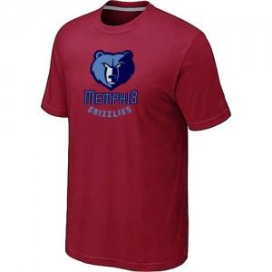 Tee-Shirt De Basket Grizzlies Rouge Homme Big & Tall Primary Logo