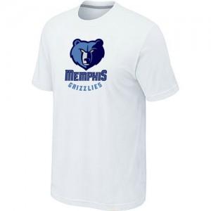 Tee-Shirt Memphis Grizzlies Blanc Big & Tall Primary Logo Homme