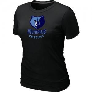 T-Shirt De Basket Grizzlies Femme Noir Big & Tall Primary Logo