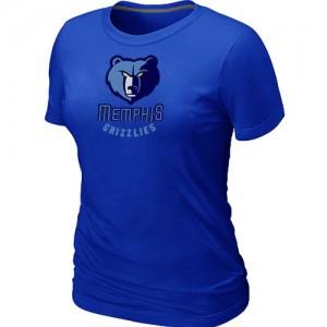 Tee-Shirt Grizzlies Bleu Big & Tall Primary Logo Femme