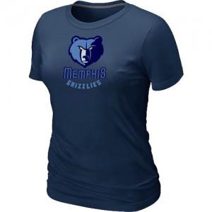 Tee-Shirt Basket Memphis Grizzlies Femme bleu marine Big & Tall Primary Logo