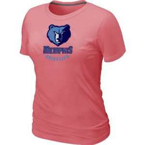 T-Shirt Basket Grizzlies Femme Big & Tall Primary Logo Rose