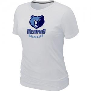 NBA T-Shirt De Basket Grizzlies Blanc Big & Tall Primary Logo Femme